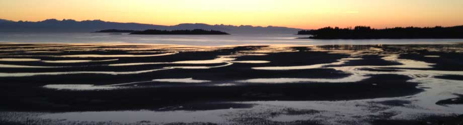 View from Madrona Beach Resort Parksille Vancouver Island