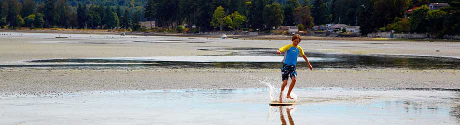 Skid Boarding Madrona Beach Resort Parksille Vancouver Island